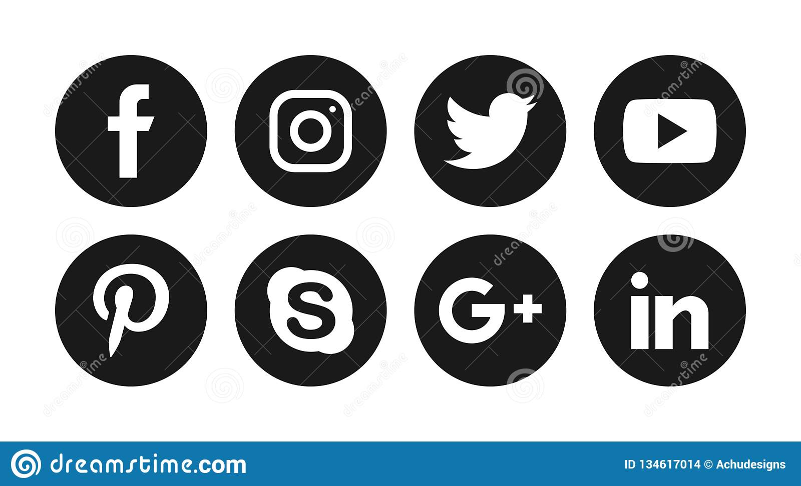 Social media icons editorial stock image  Illustration of