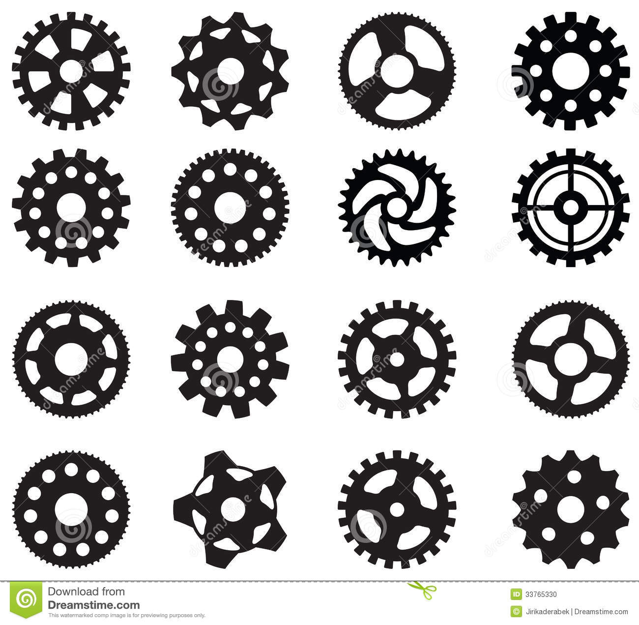 Simple Vector Gears Stock Photo - Image: 33765330