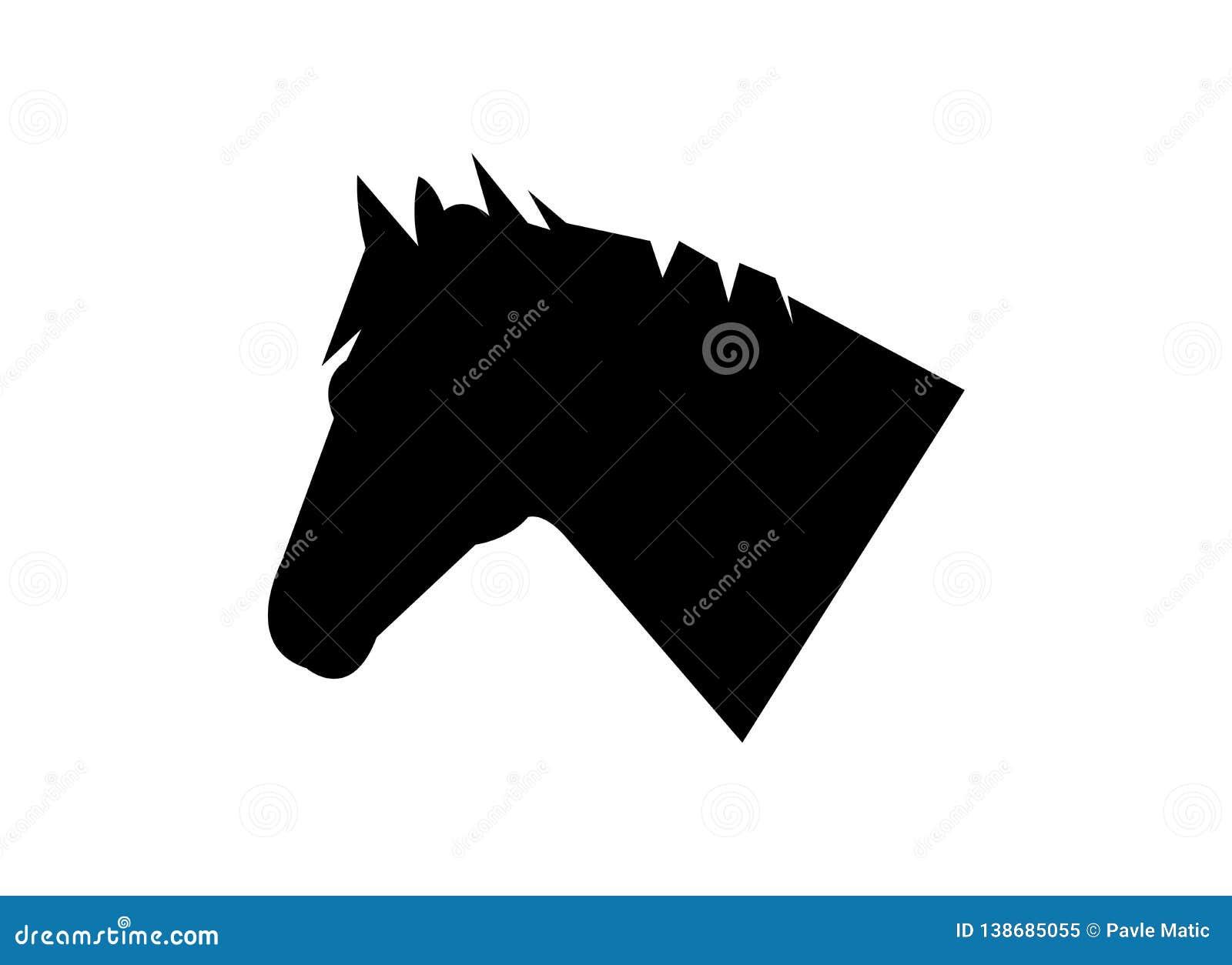 Vector Logo Icon Of A Horse Head Stock Vector Illustration Of Mammal Contour 138685055