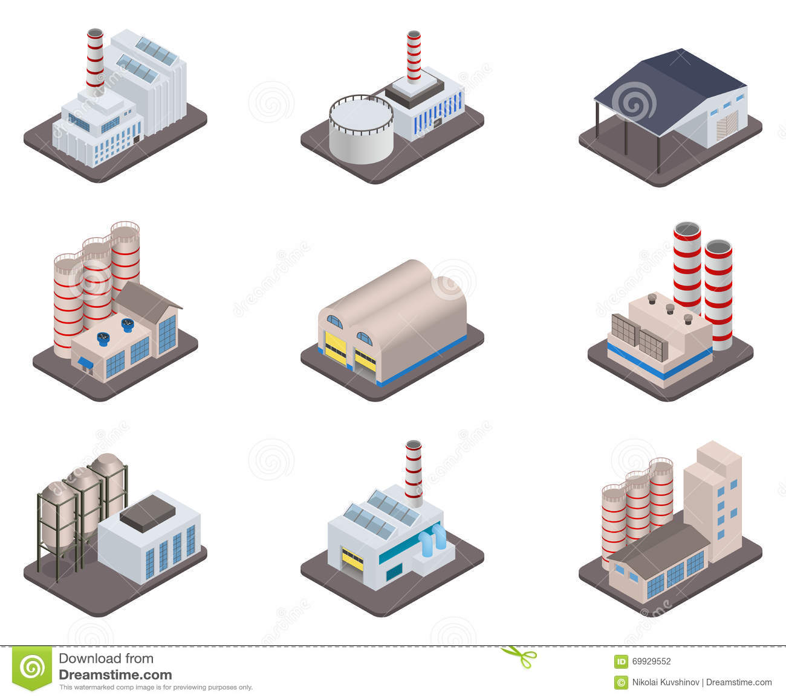 Isometric Factory Vector Illustration Cartoondealer Com