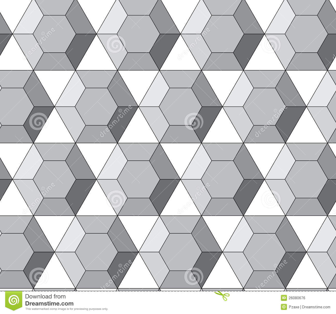 Simple Vector Pattern Hexagonal Diamonds Stock Vector