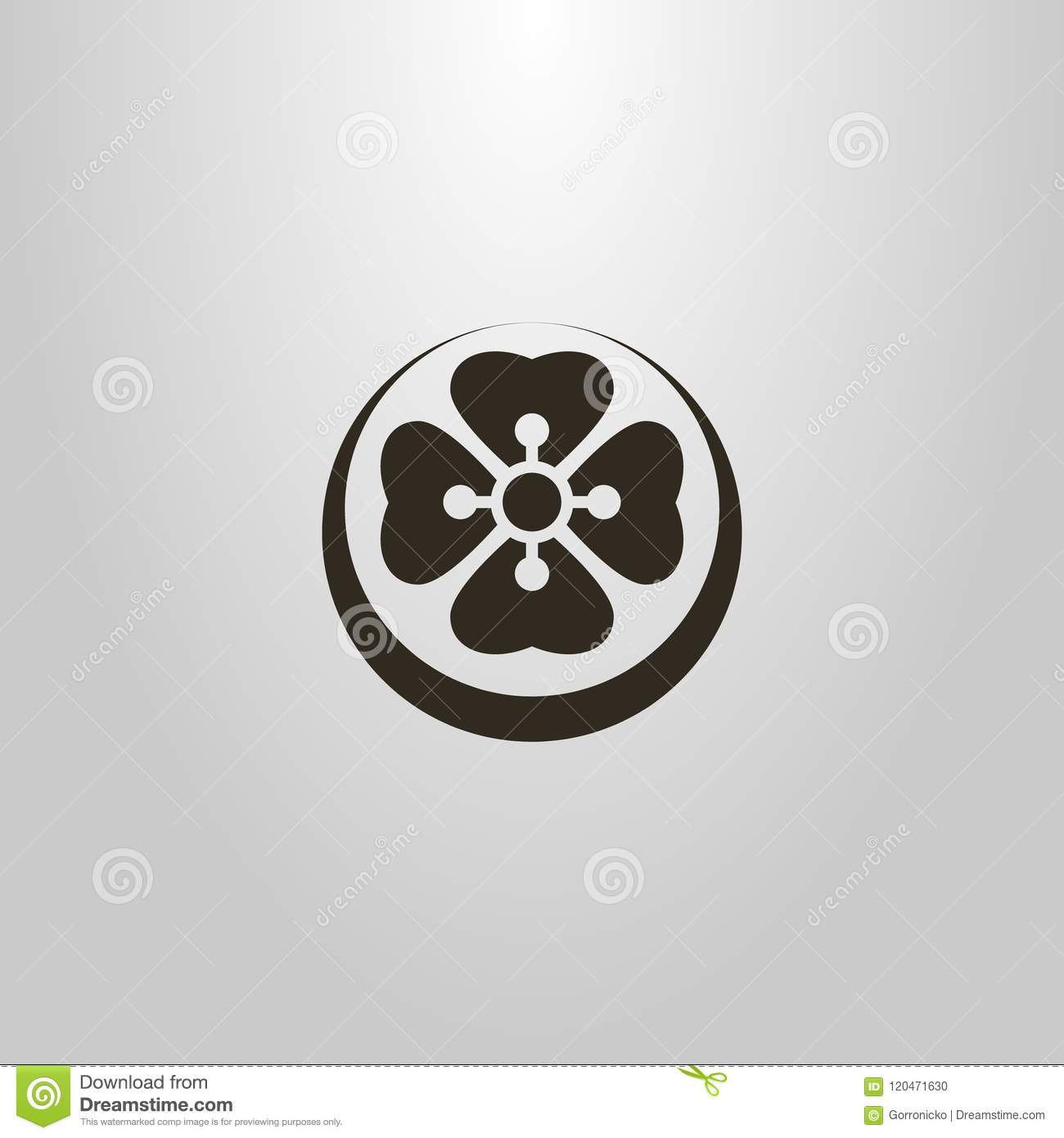 Simple vector symbol of an abstract flower lotus in a round frame simple vector symbol of an abstract flower lotus in a round frame izmirmasajfo