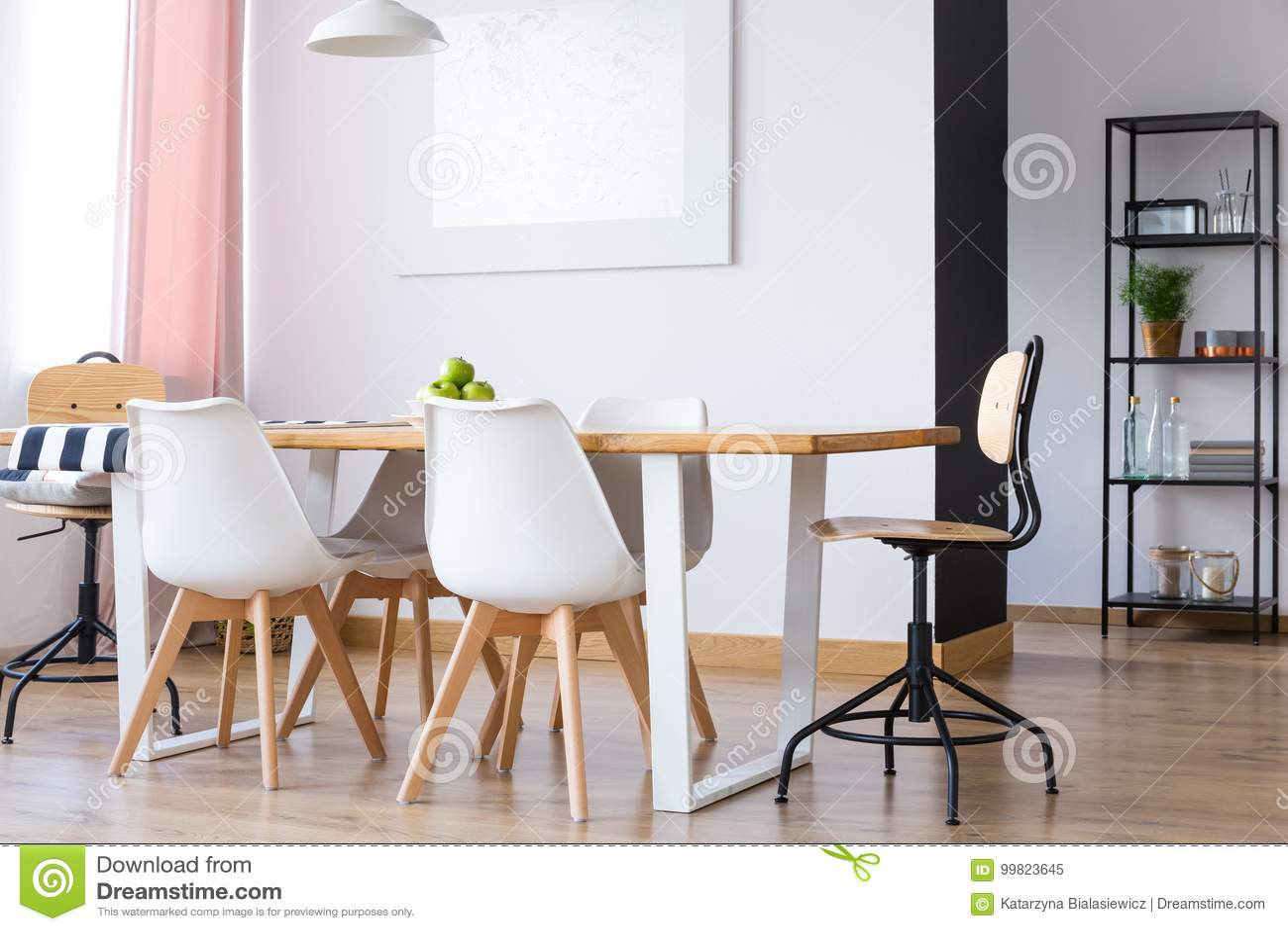 Phenomenal Simple White Dining Room Stock Image Image Of Background Creativecarmelina Interior Chair Design Creativecarmelinacom