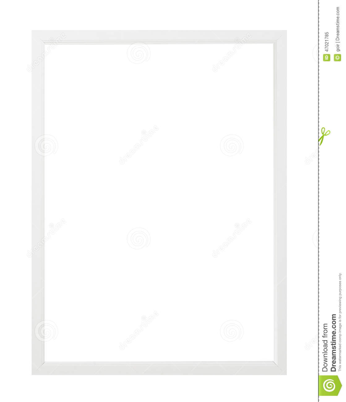 Simple white picture frame stock image. Image of frame - 47021785