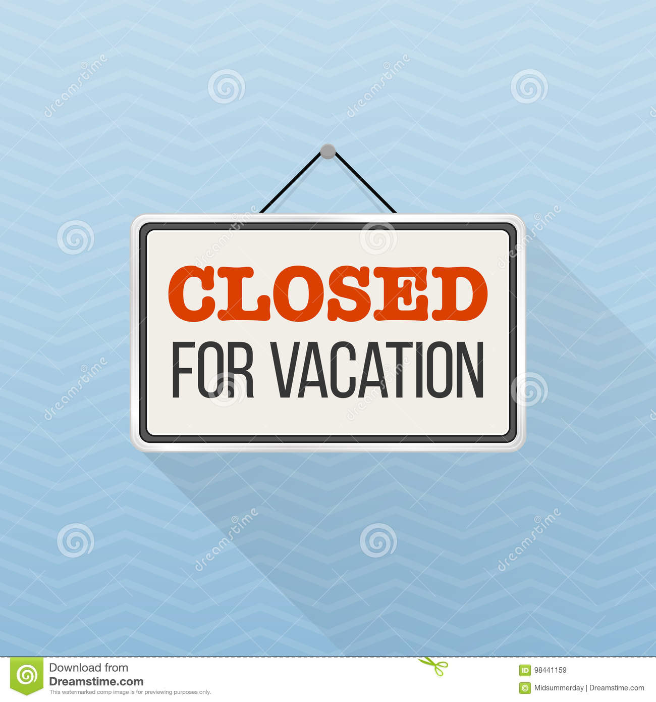 photo regarding Office Will Be Closed Sign Template known as Very simple White Signal With Words and phrases `Shut For Trip` Striking Upon