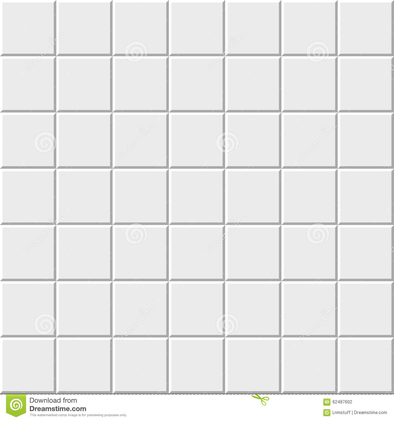 Simple white tiles pattern stock vector. Illustration of beautiful ...
