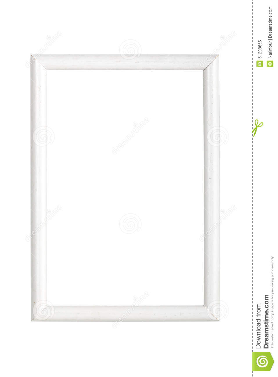 Simple white wooden picture frame stock photo image - White wooden picture frames ...