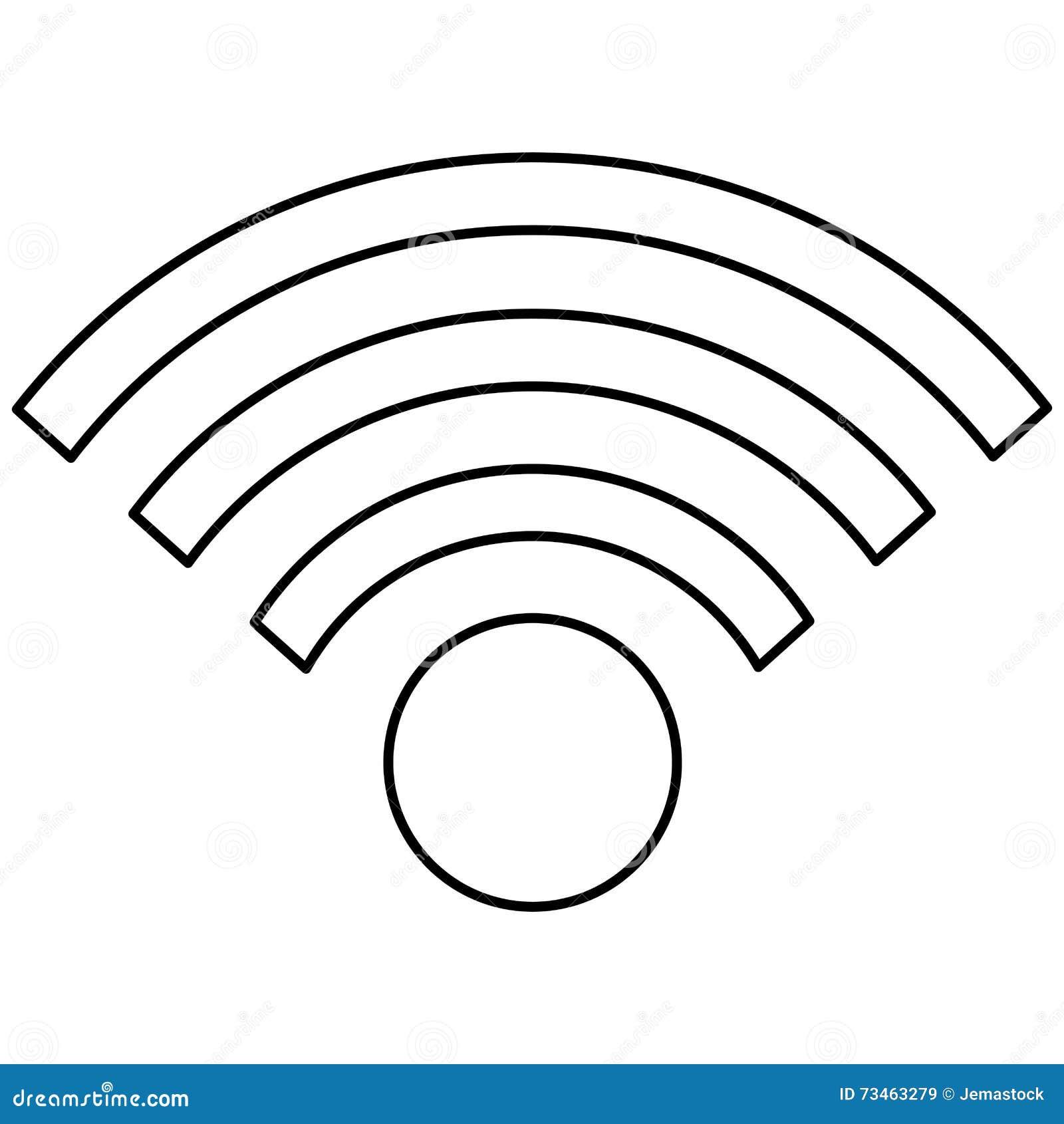 Simple Wifi Icon Stock Illustration Illustration Of Illustration