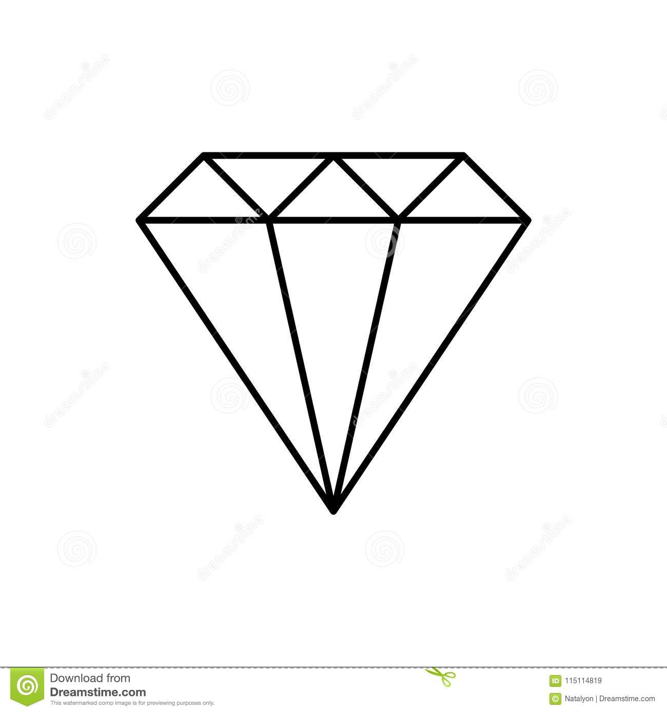 simple wire framed diamond crystal black and white logo