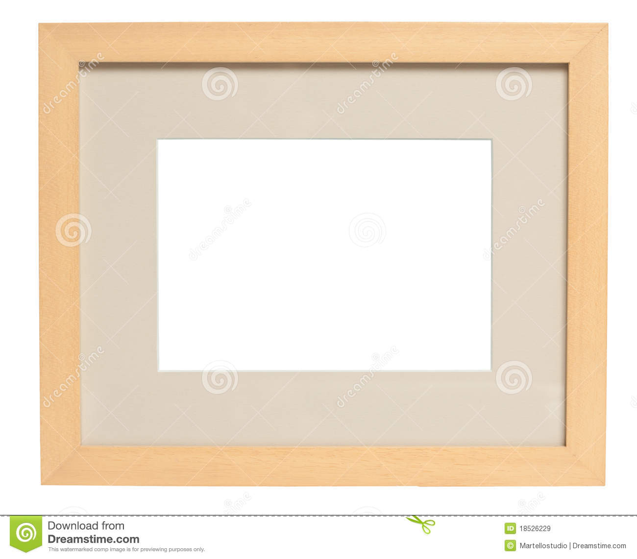 Simple Wood Picture Frame with Clipping Path Stock Image Image
