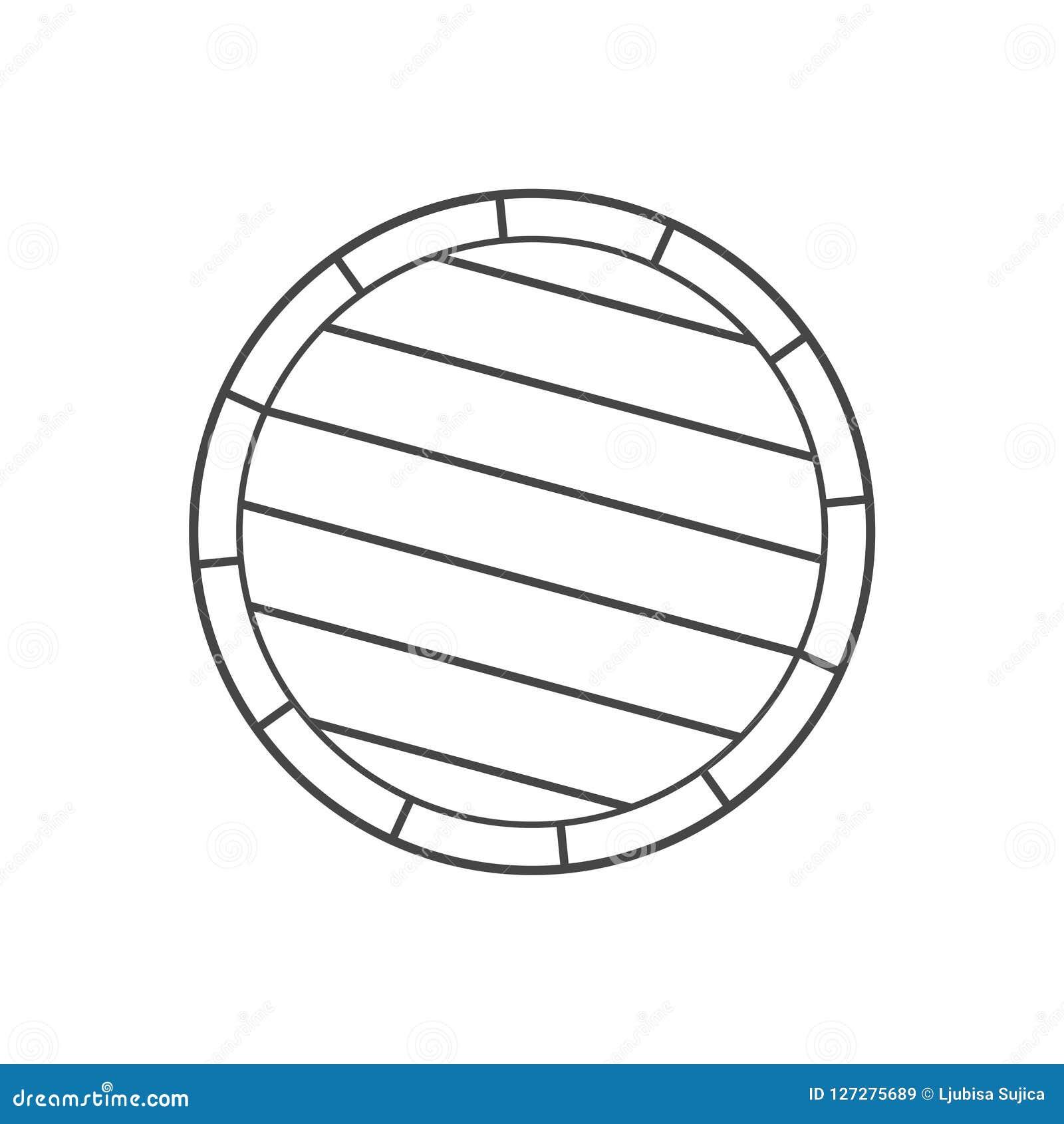 Simple Wooden Barrel icon