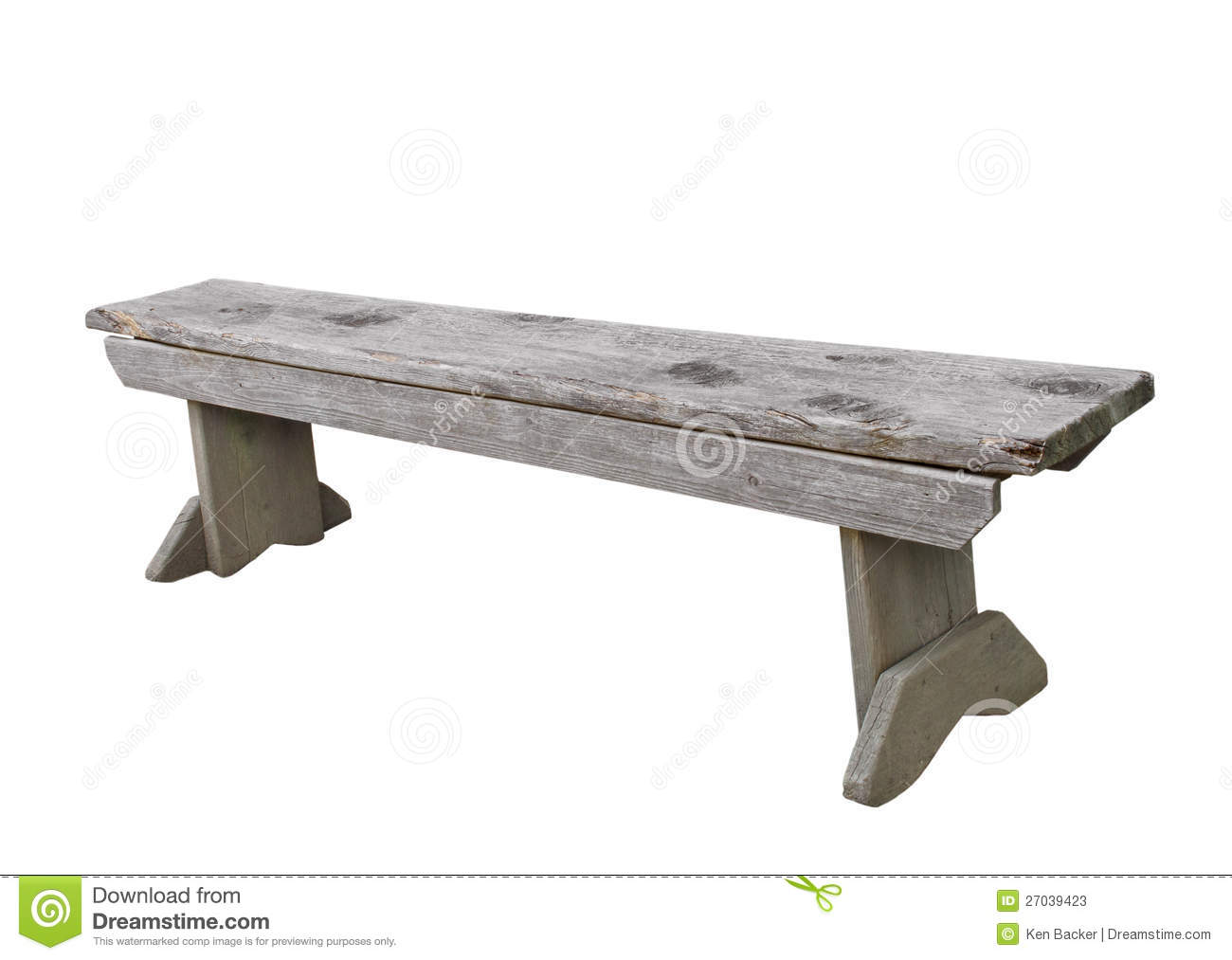 Simple Wooden Bench Isolated. Stock Photos - Image: 27039423
