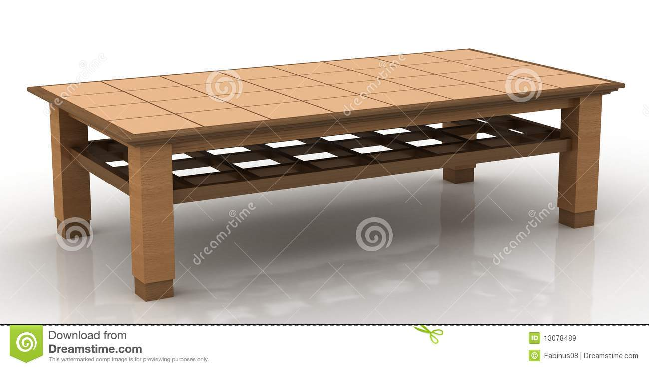 Simple Wooden Coffee Table Royalty Free Stock Images - Image: 13078489