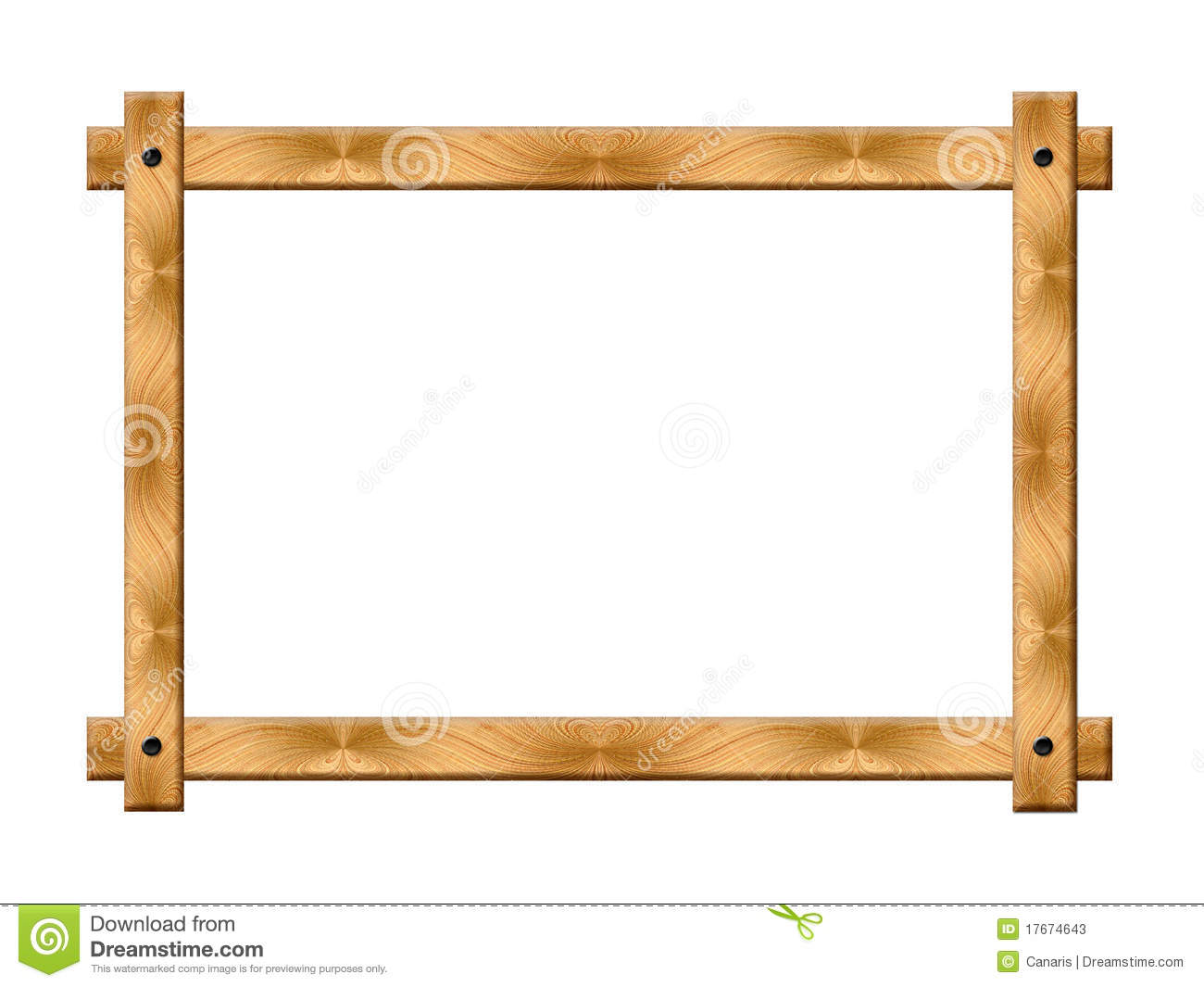 Simple Wooden Frame Stock Photos - Image: 17674643