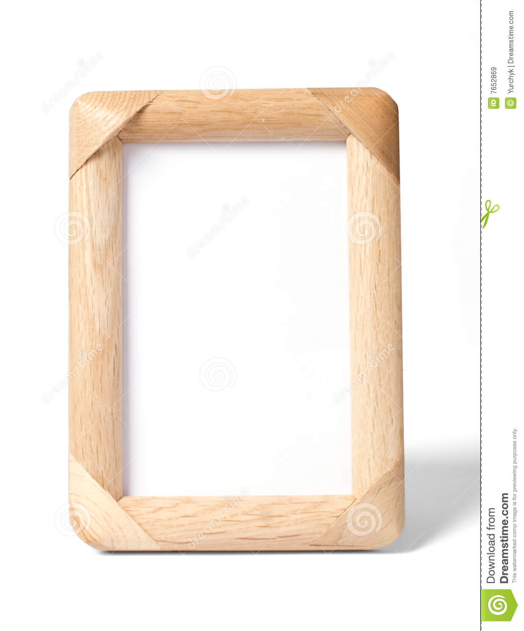 Simple Wooden Photo Frame Royalty Free Stock Images - Image: 7652869