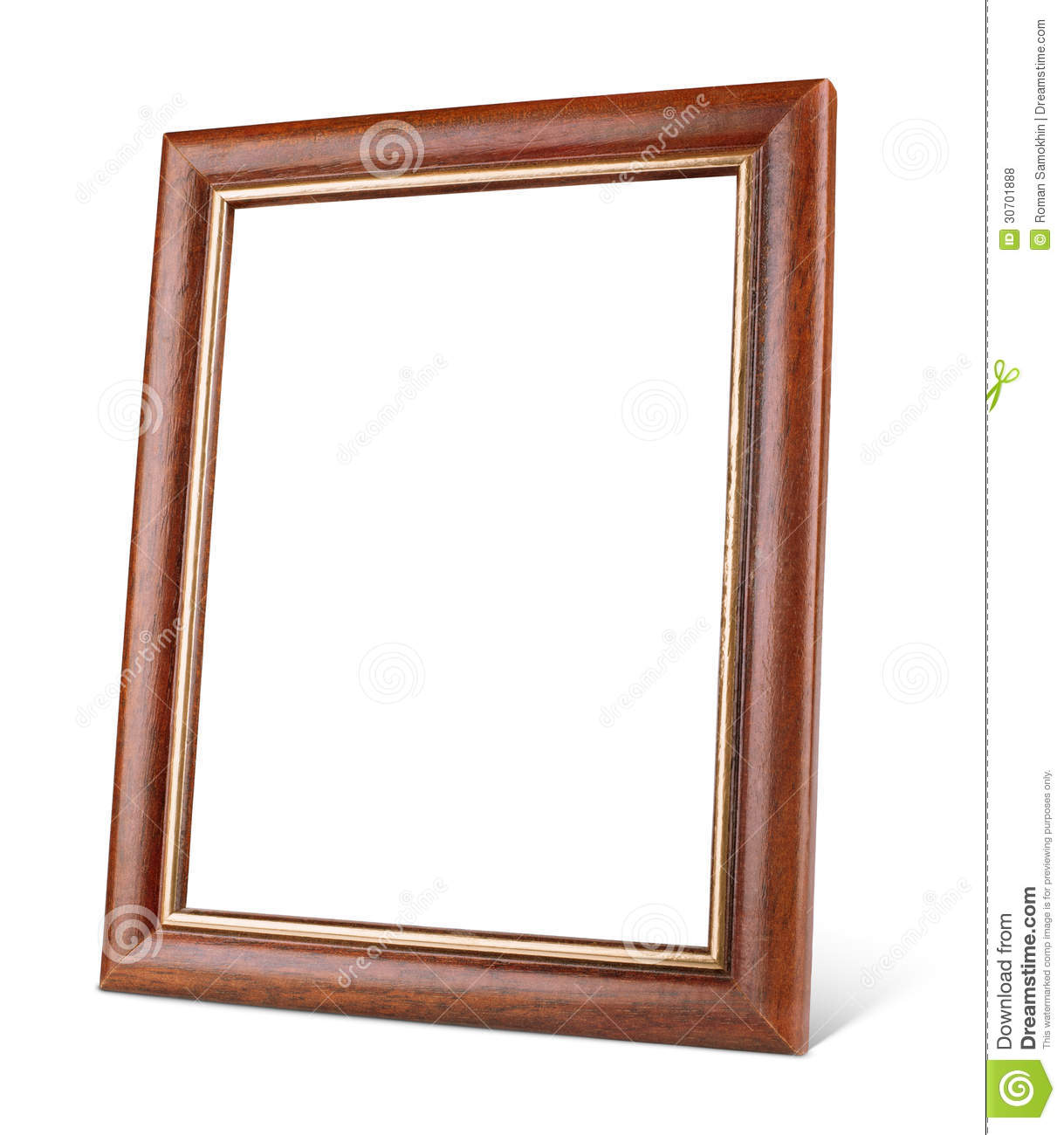 Simple Wooden Picture Frame With Shadow Royalty Free Stock Photos ...