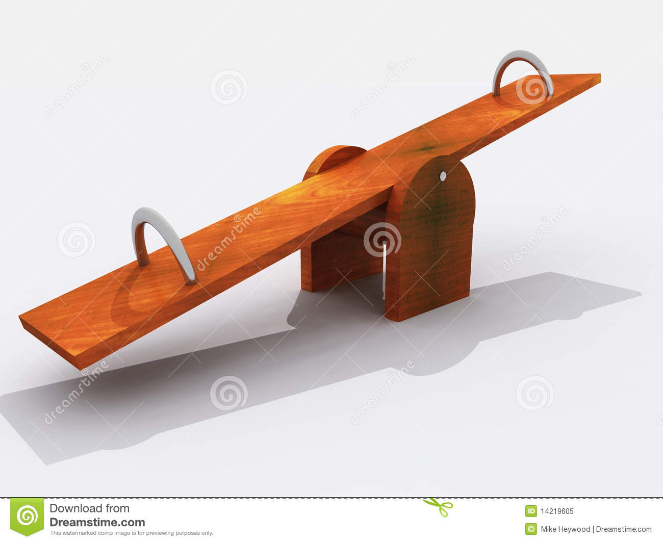 Simple Wooden Seesaw Stock Illustration Illustration Of Wood 14219605