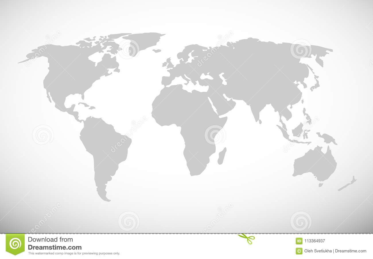 Simple world map vector illustration stock vector illustration of simple world map vector illustration royalty free vector gumiabroncs Image collections