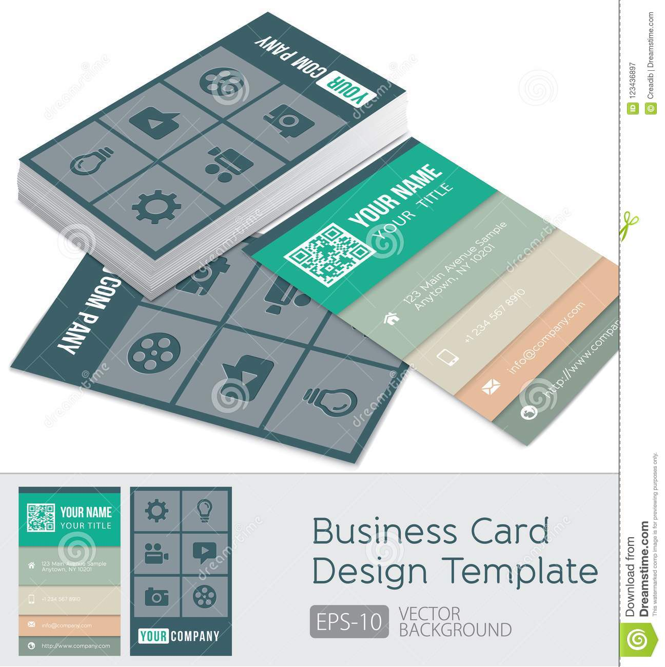 Simplicity business cards design template with illustration 3d stock simplicity business cards design template with illustration 3d cheaphphosting Choice Image