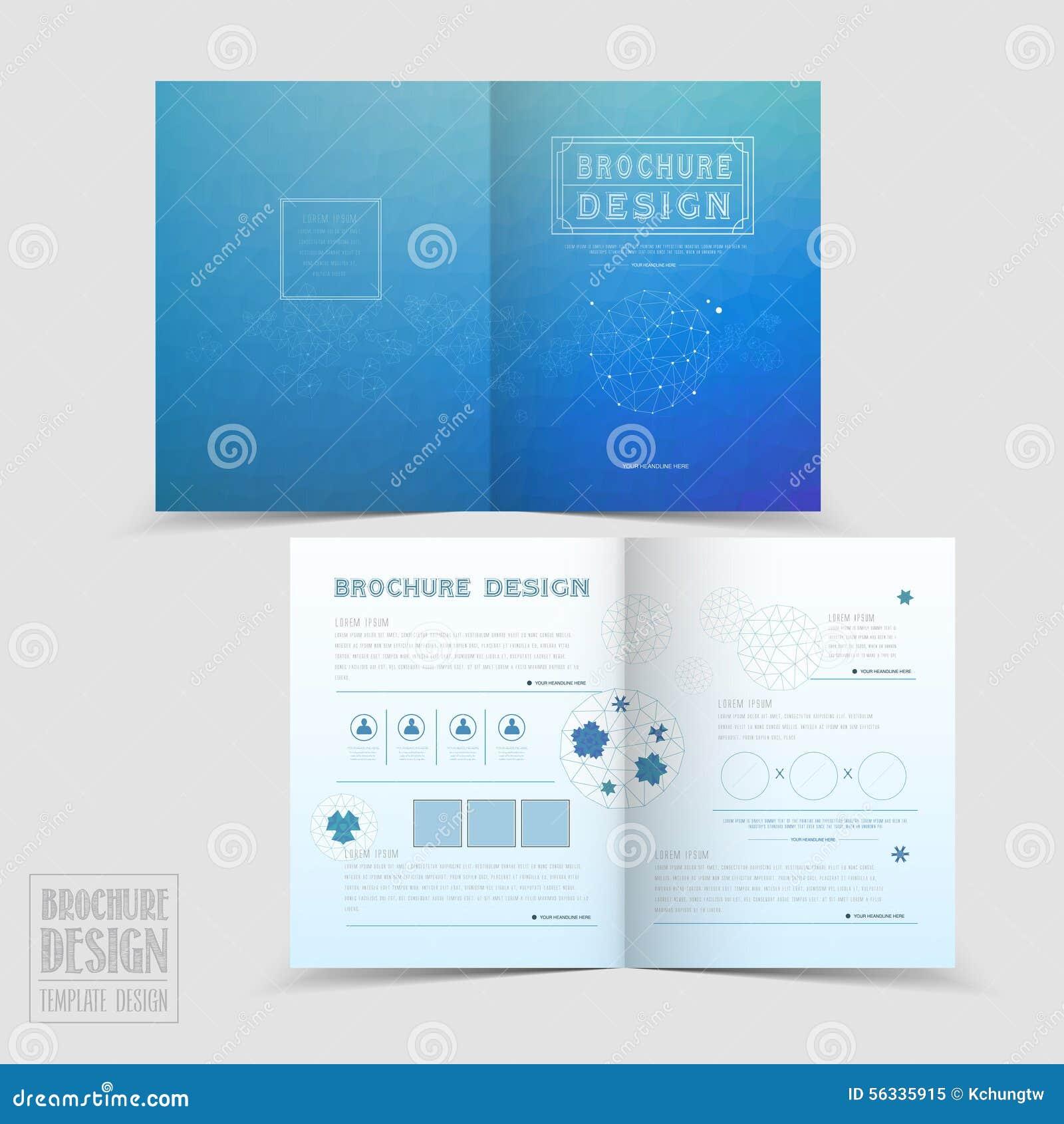 simplicity half fold brochure template design stock vector image 56335915. Black Bedroom Furniture Sets. Home Design Ideas