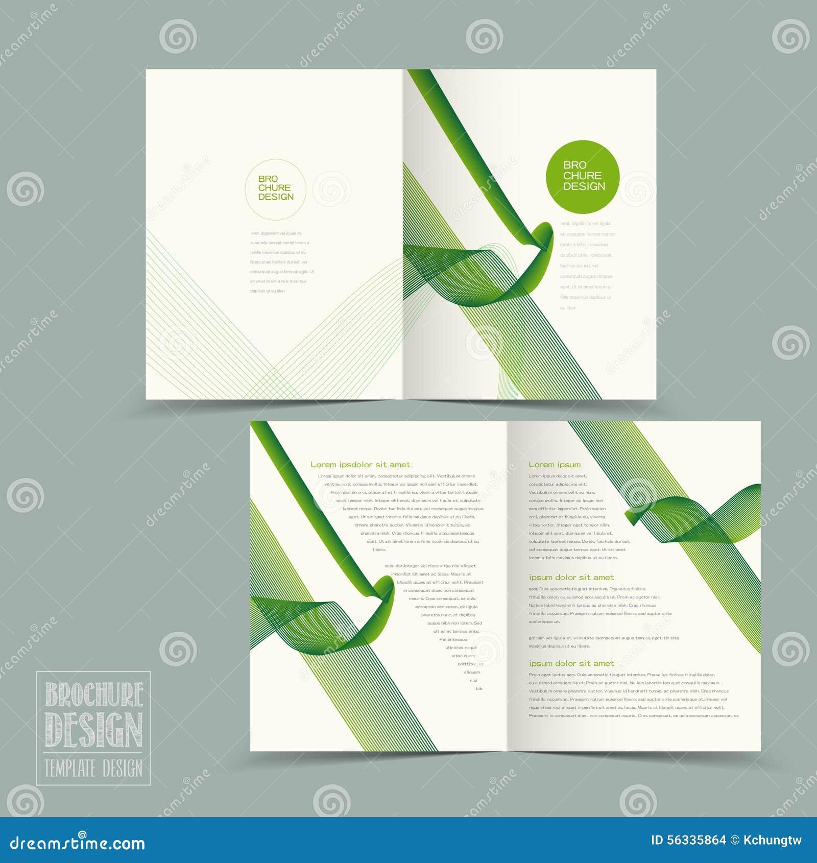 trendy half fold template design vector illustration 56182252. Black Bedroom Furniture Sets. Home Design Ideas