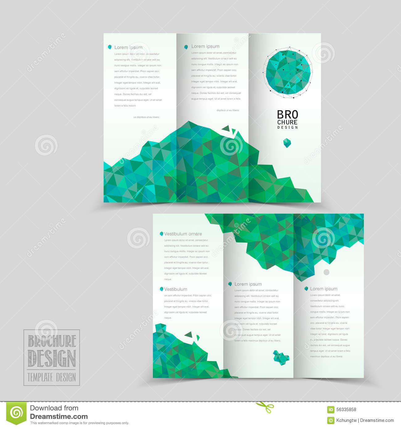 Simplicity tri fold brochure template design stock vector for Brochures design templates