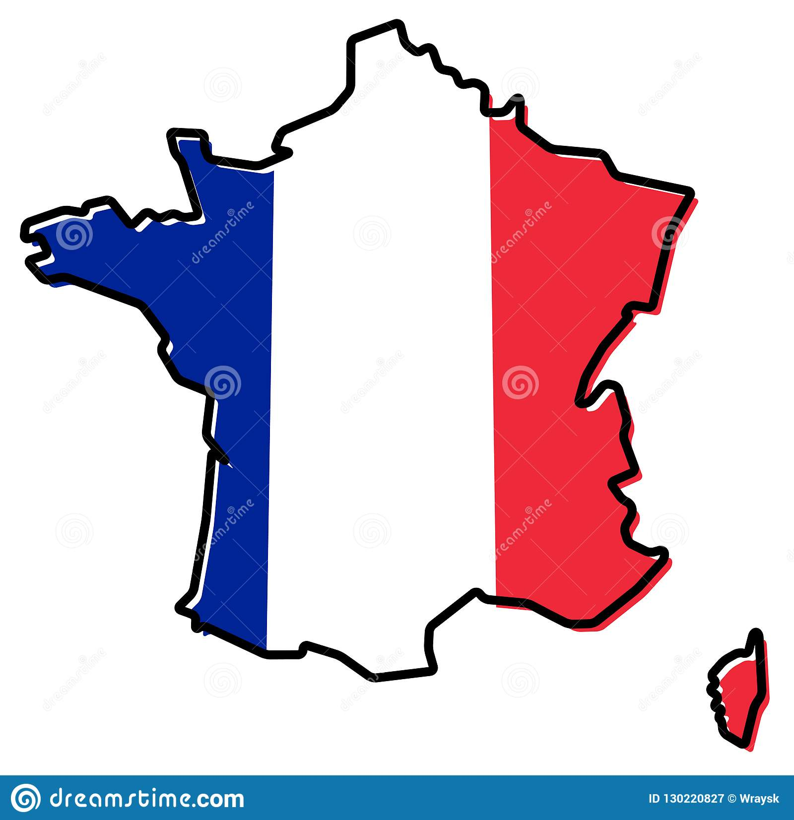 Map Of France Cartoon.The France Flag And Map Cartoon Vector Cartoondealer Com 16633601