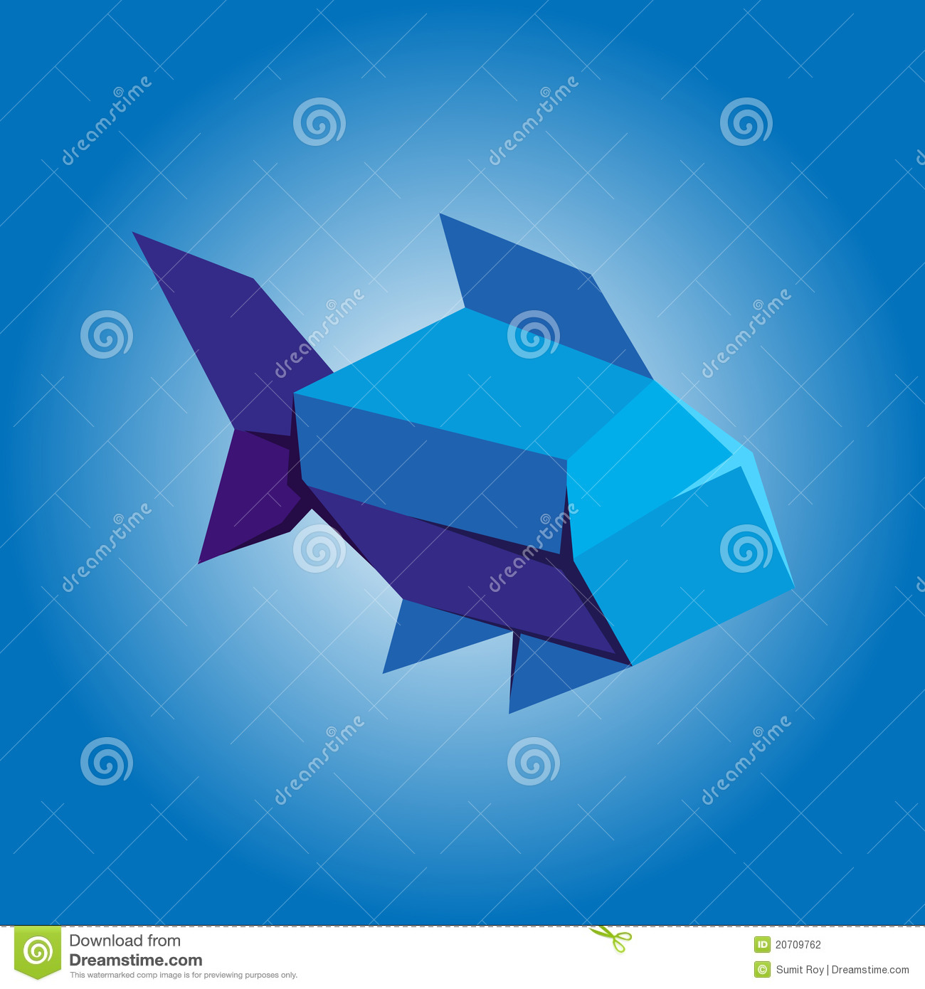 Simplistic origami fish stock illustration illustration of simplistic origami fish jeuxipadfo Images