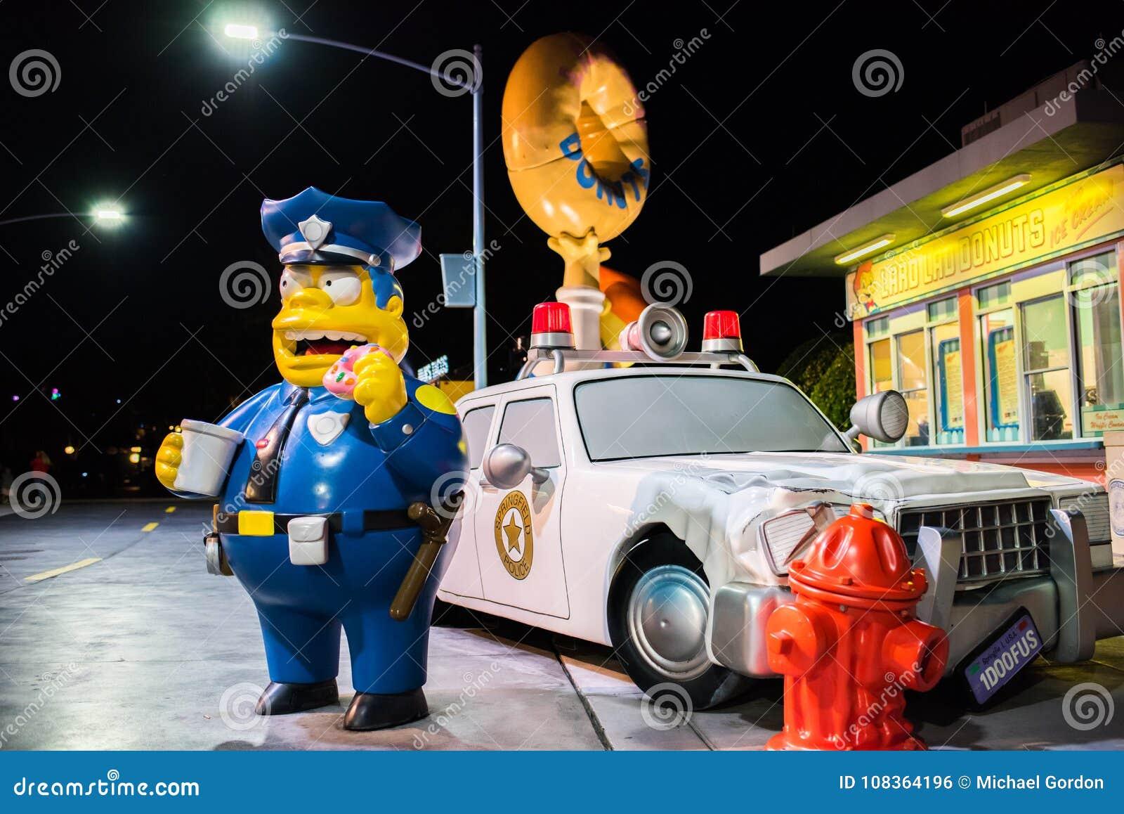 The Simpsons area at Universal Studios Florida.