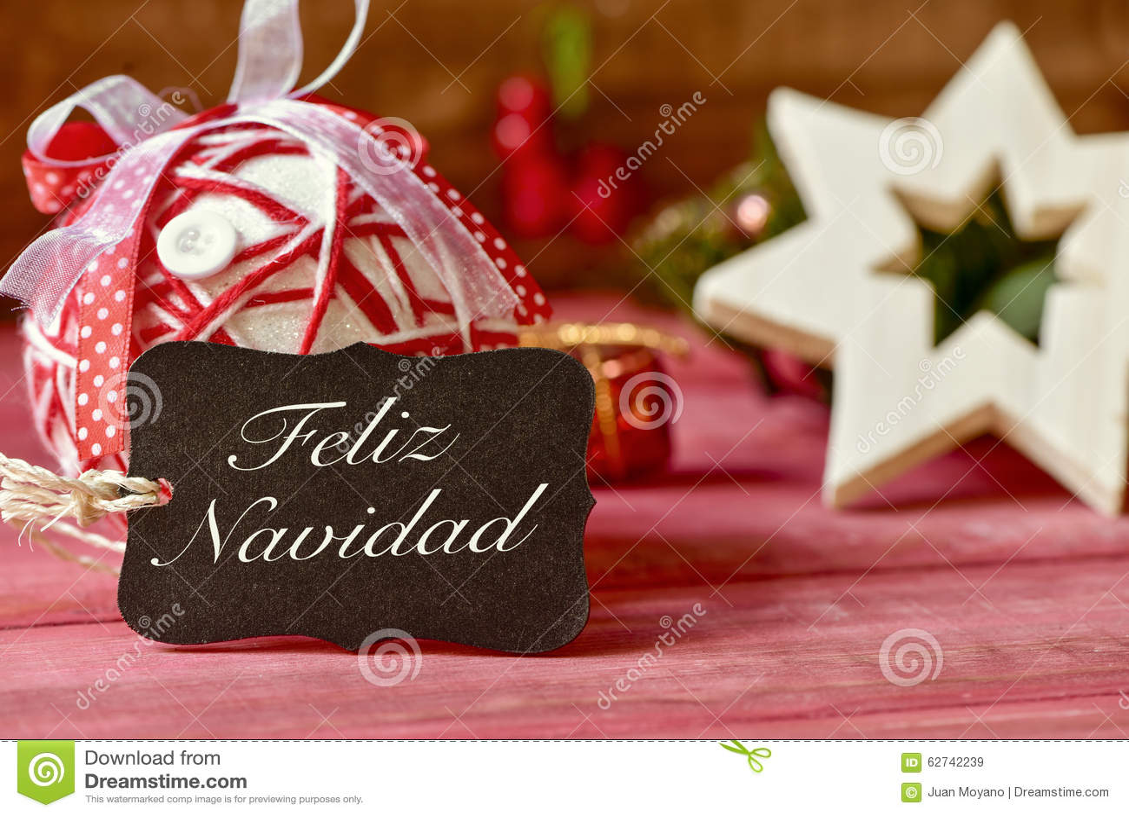 Simsen Sie feliz navidad, frohe Weihnachten auf spanisch