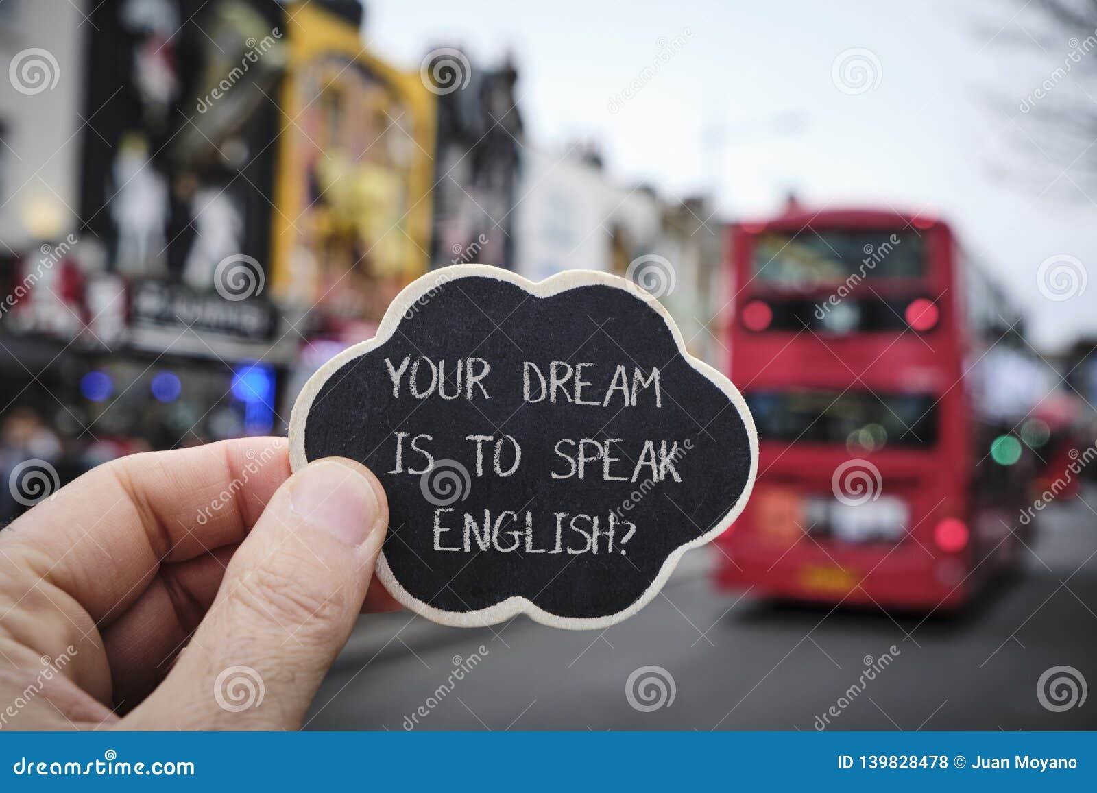 Simsen Sie Ihren Traum ist, Englisch, in London zu sprechen, Großbritannien