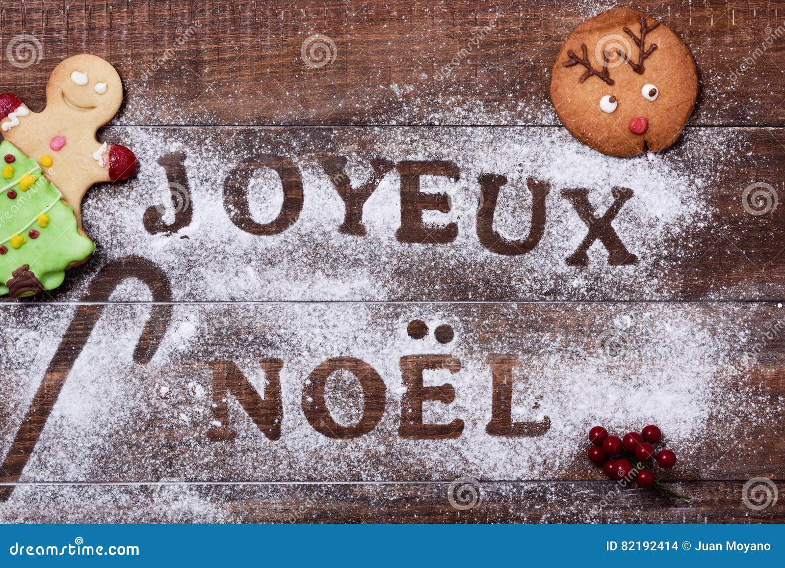 Weihnachtsgrüße In Französisch.Auf Frohe Joyeux Noel Weihnachten Archivbilder Abgabe Des Download