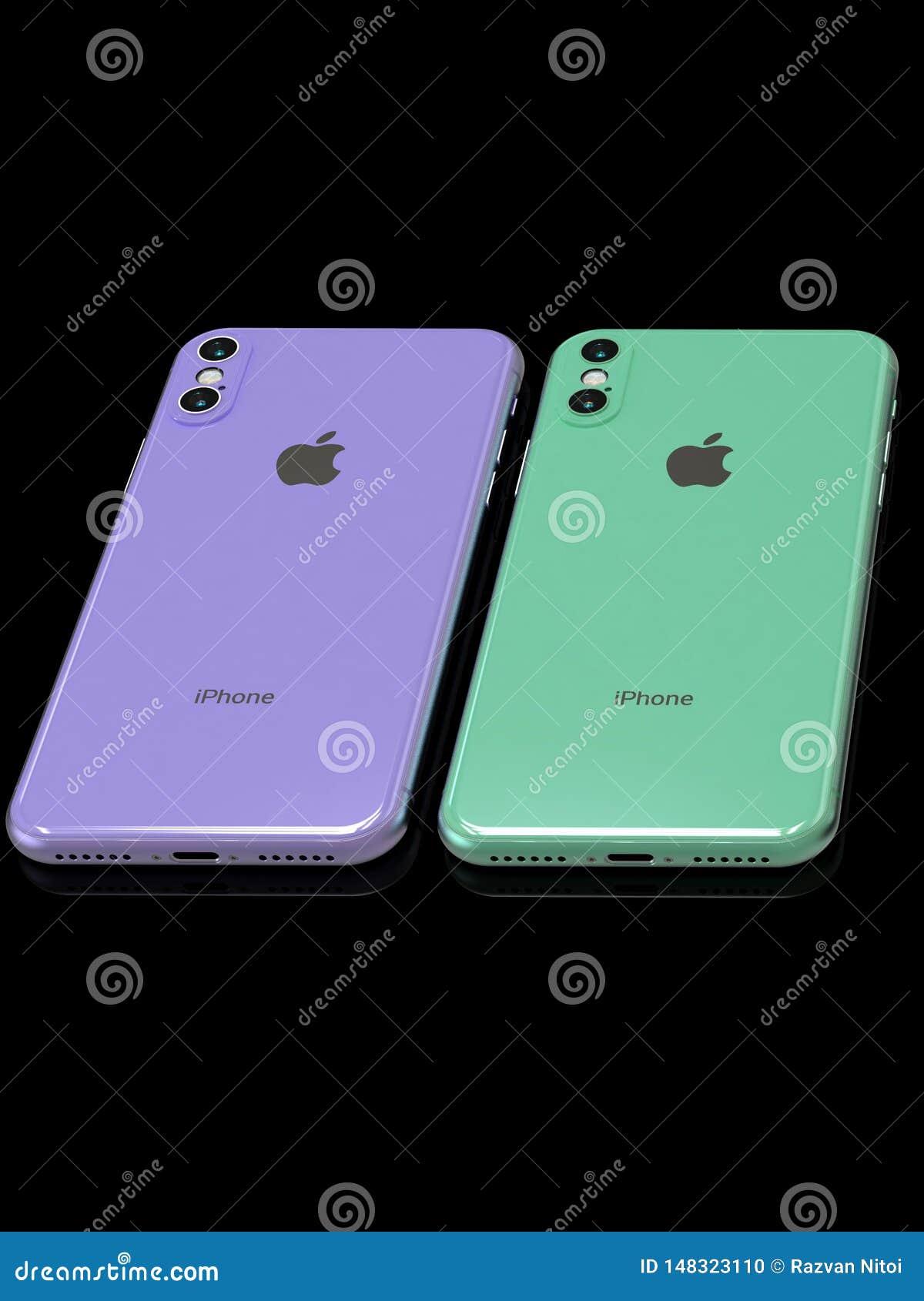 Simulación escapada del diseño del sucesor 2019 del iPhone XR de Apple