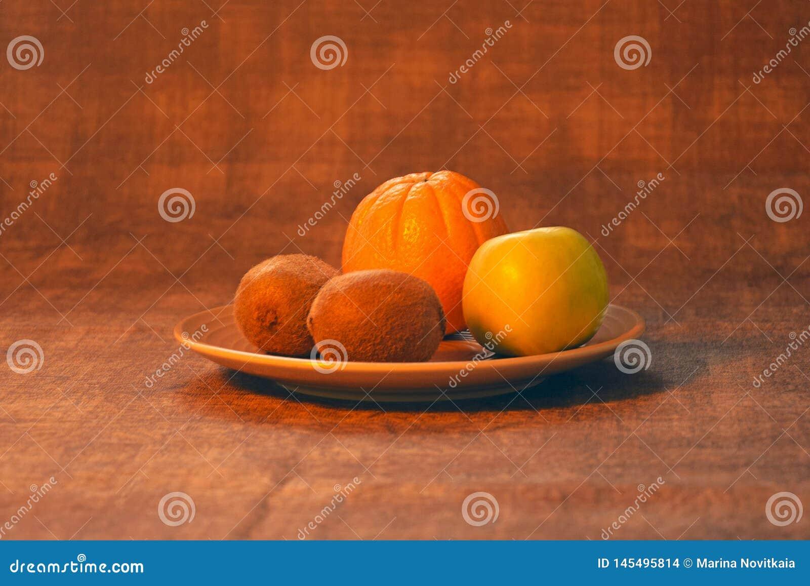 Sinaasappel, appel, kiwi Zonnebloemzaden - zaadfonds