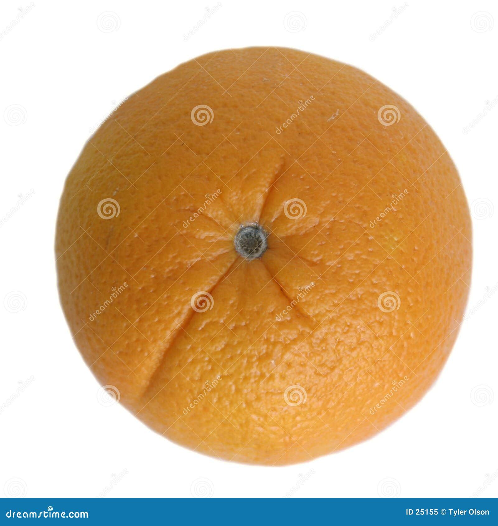 Sinaasappel die op Wit wordt geïsoleerdf