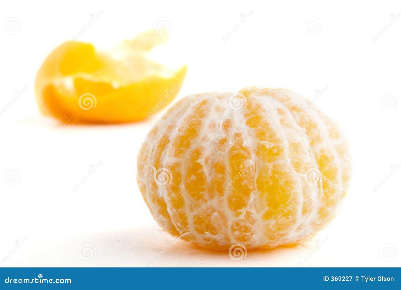 Sinaasappel zonder schil