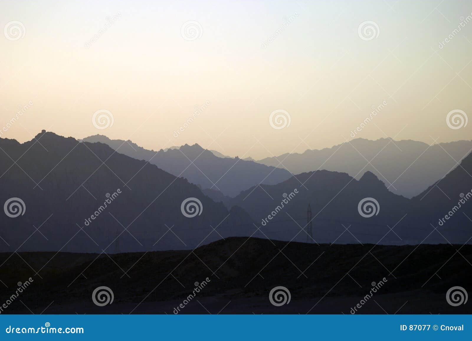 Sinai solnedgång