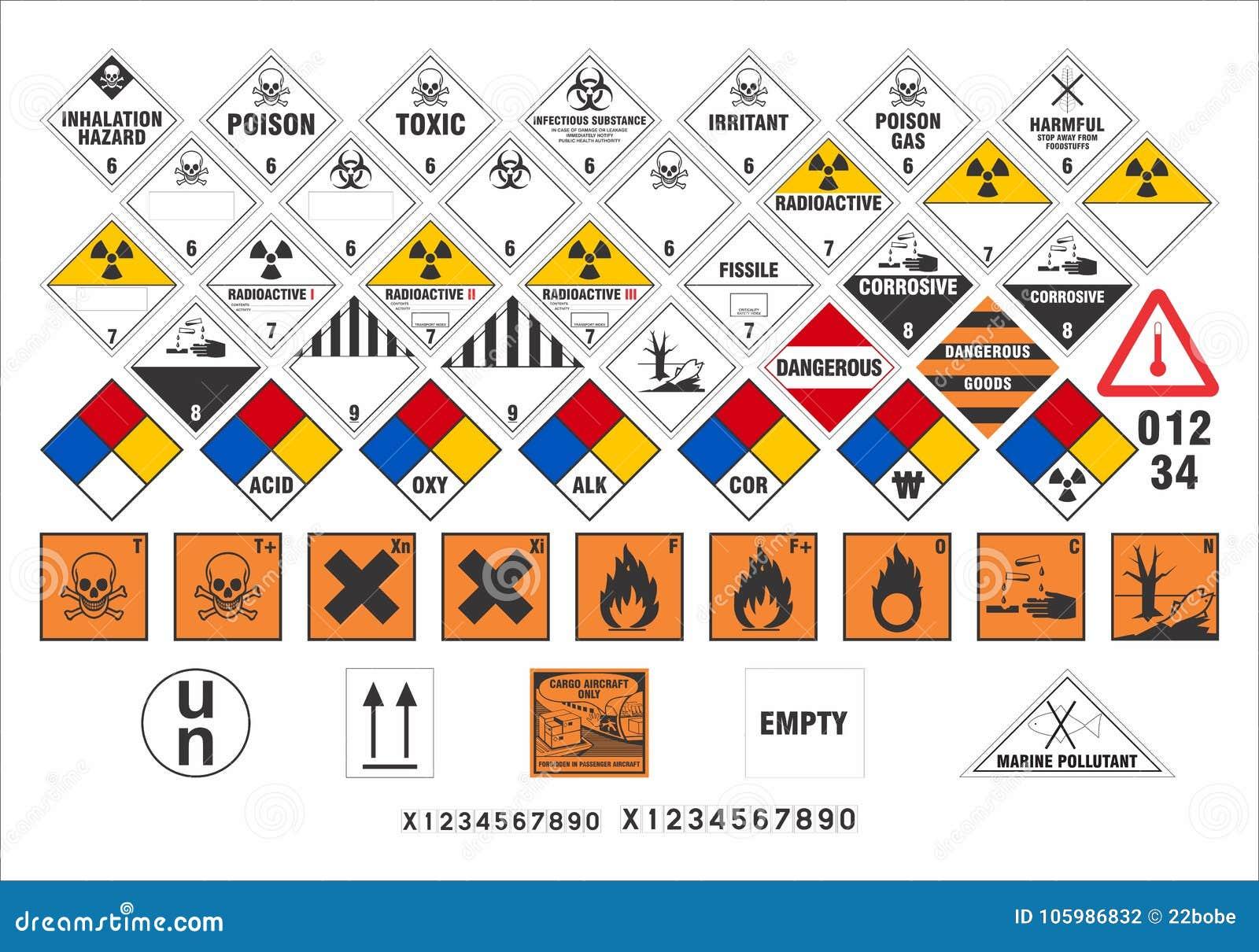 Sinais de aviso de segurança - transporte os sinais 3/3 - vetor