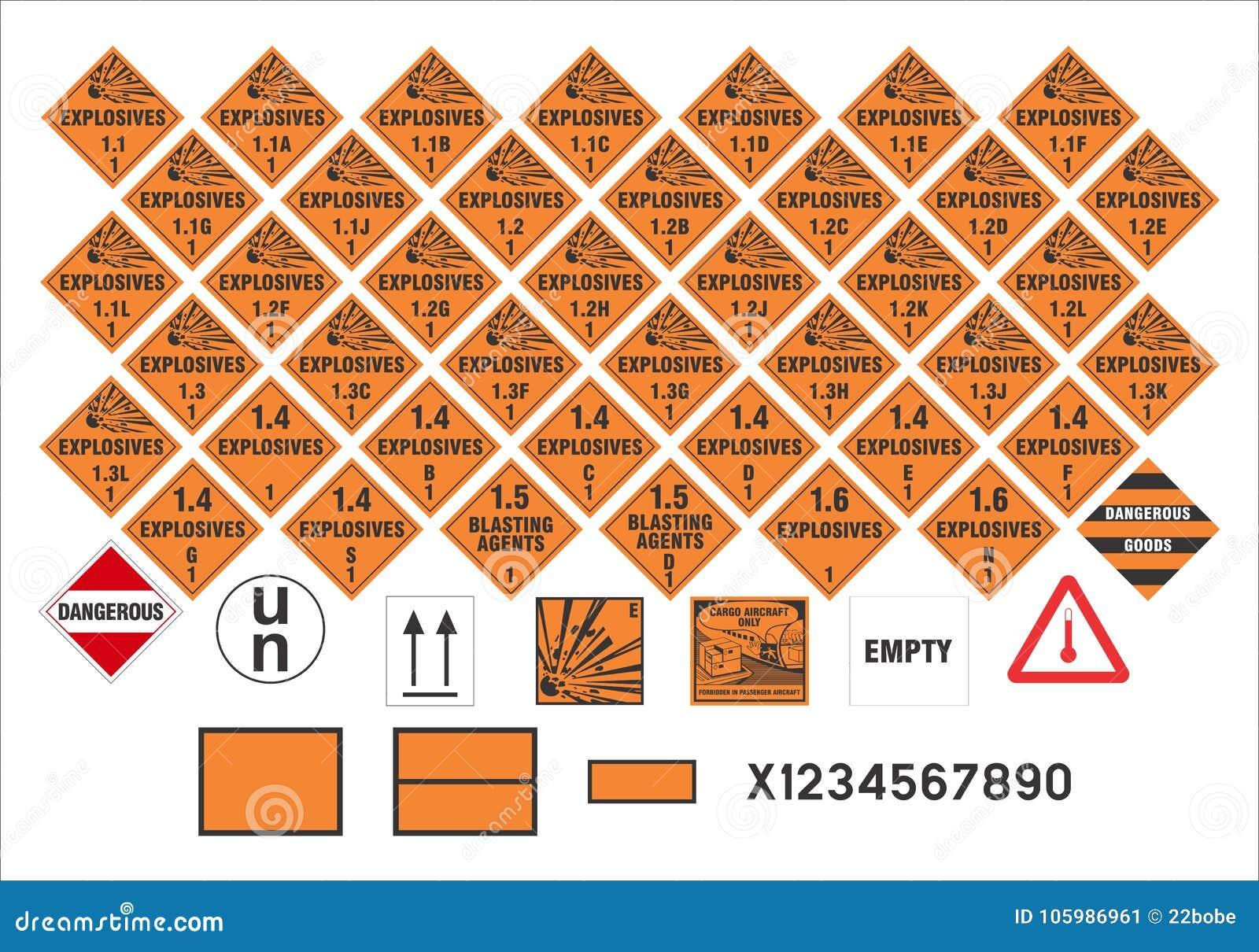 Sinais de aviso de segurança - transporte os sinais 1/3 - vetor