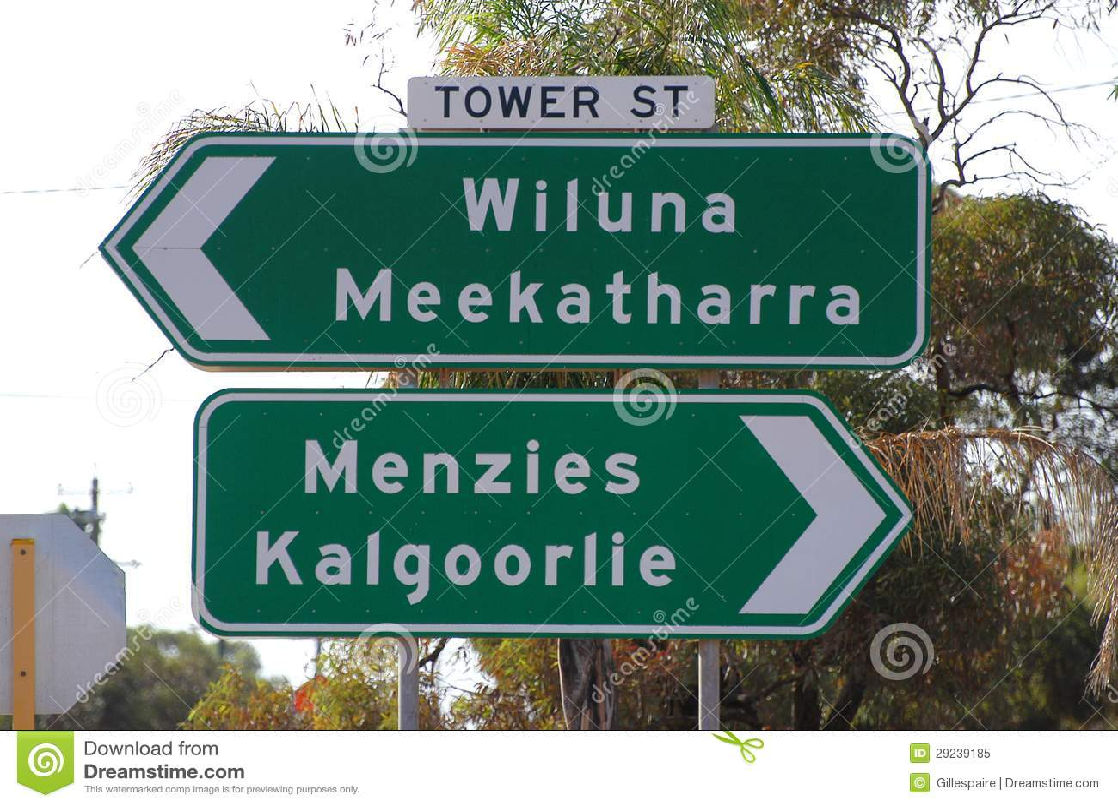 Download Sinais De Estrada Com Leonora Imagem de Stock - Imagem de austrália, estrada: 29239185