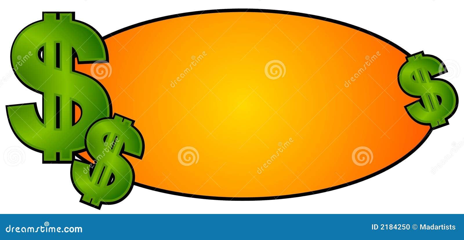 Sinais do dinheiro do dinheiro do logotipo do Web site