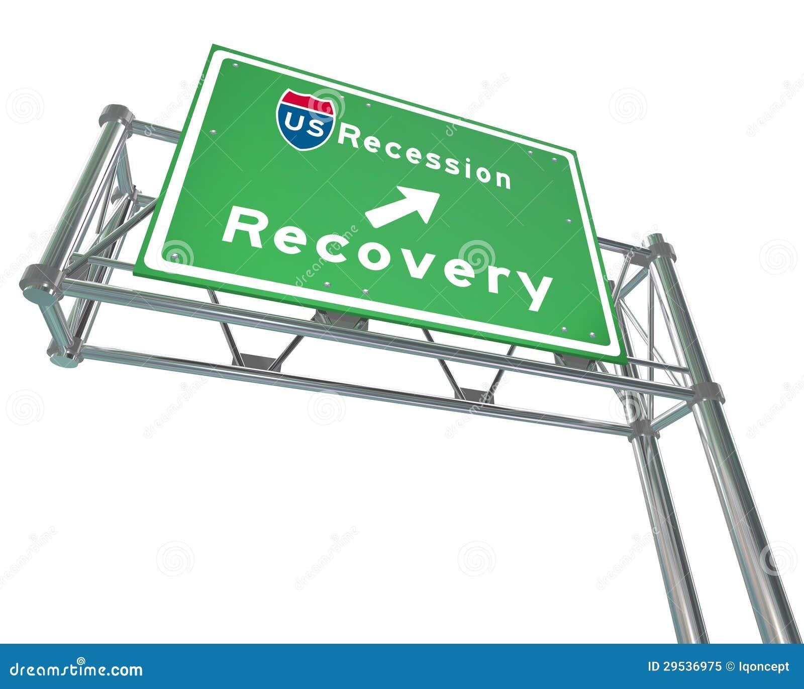 Sinal da autoestrada - recuperação seguinte da saída da retirada
