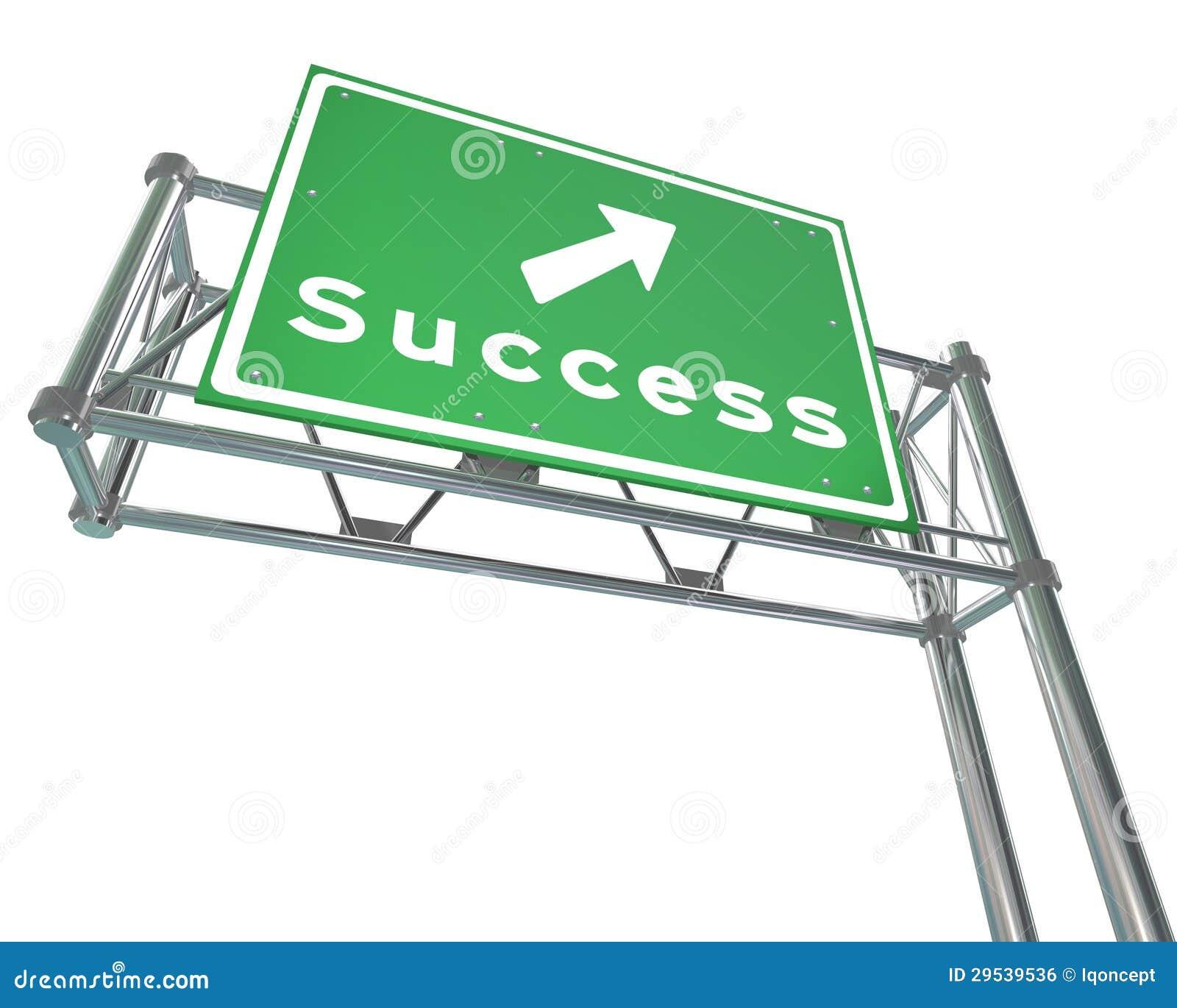 Sinal da autoestrada - sucesso - isolado