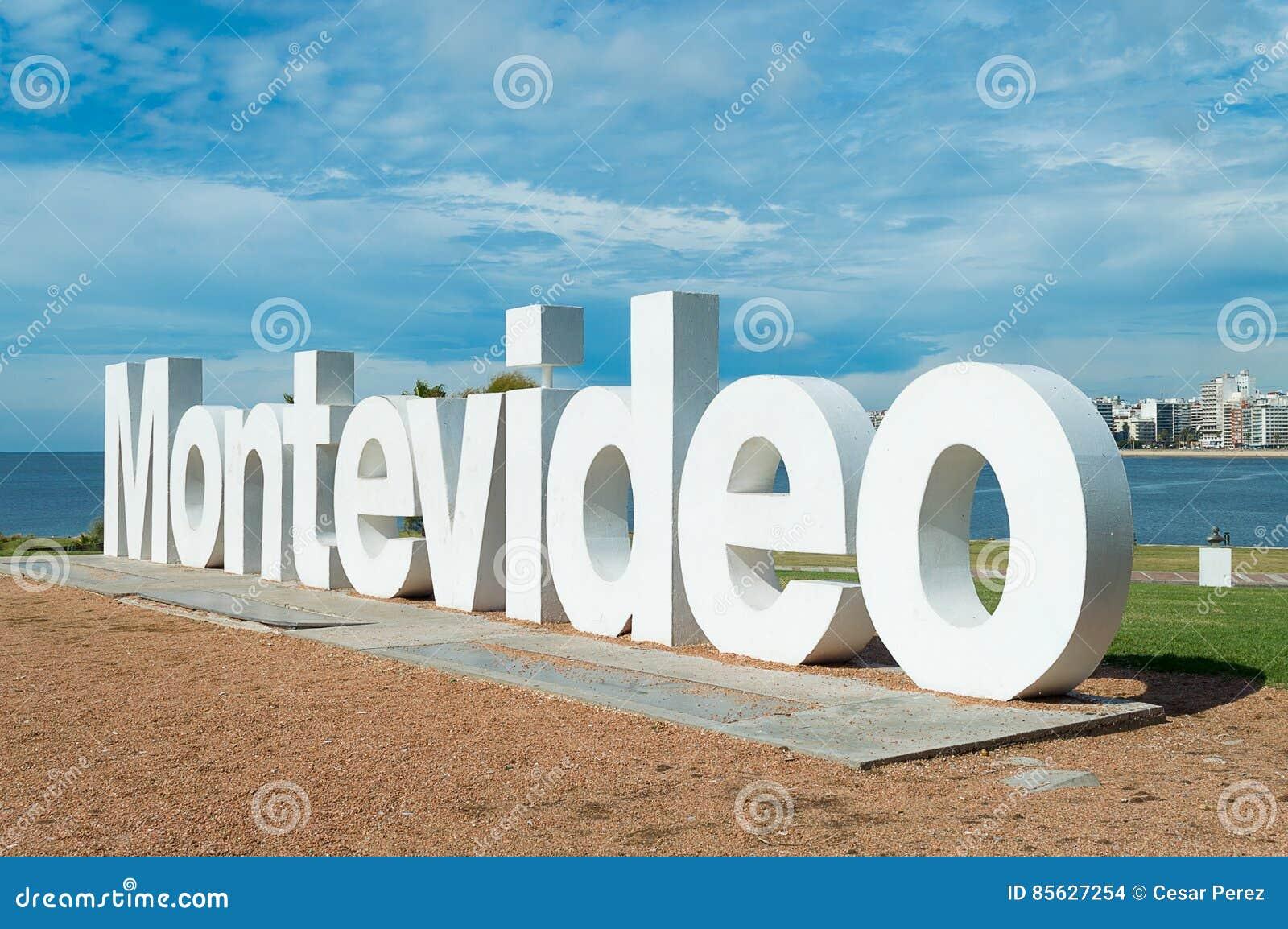 Sinal da cidade de Montevideo
