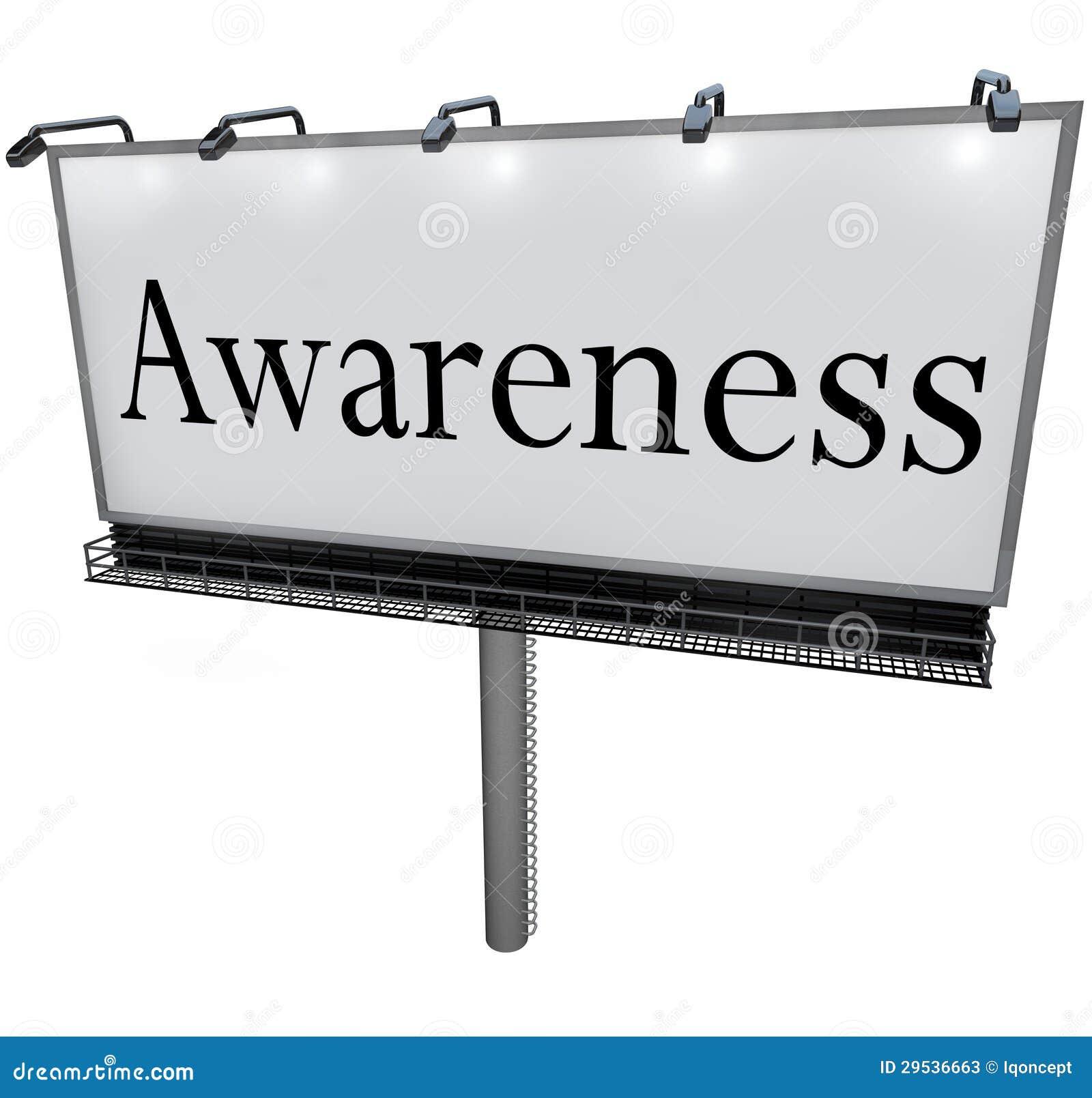Sinal da mensagem do mercado do quadro de avisos da palavra da consciência