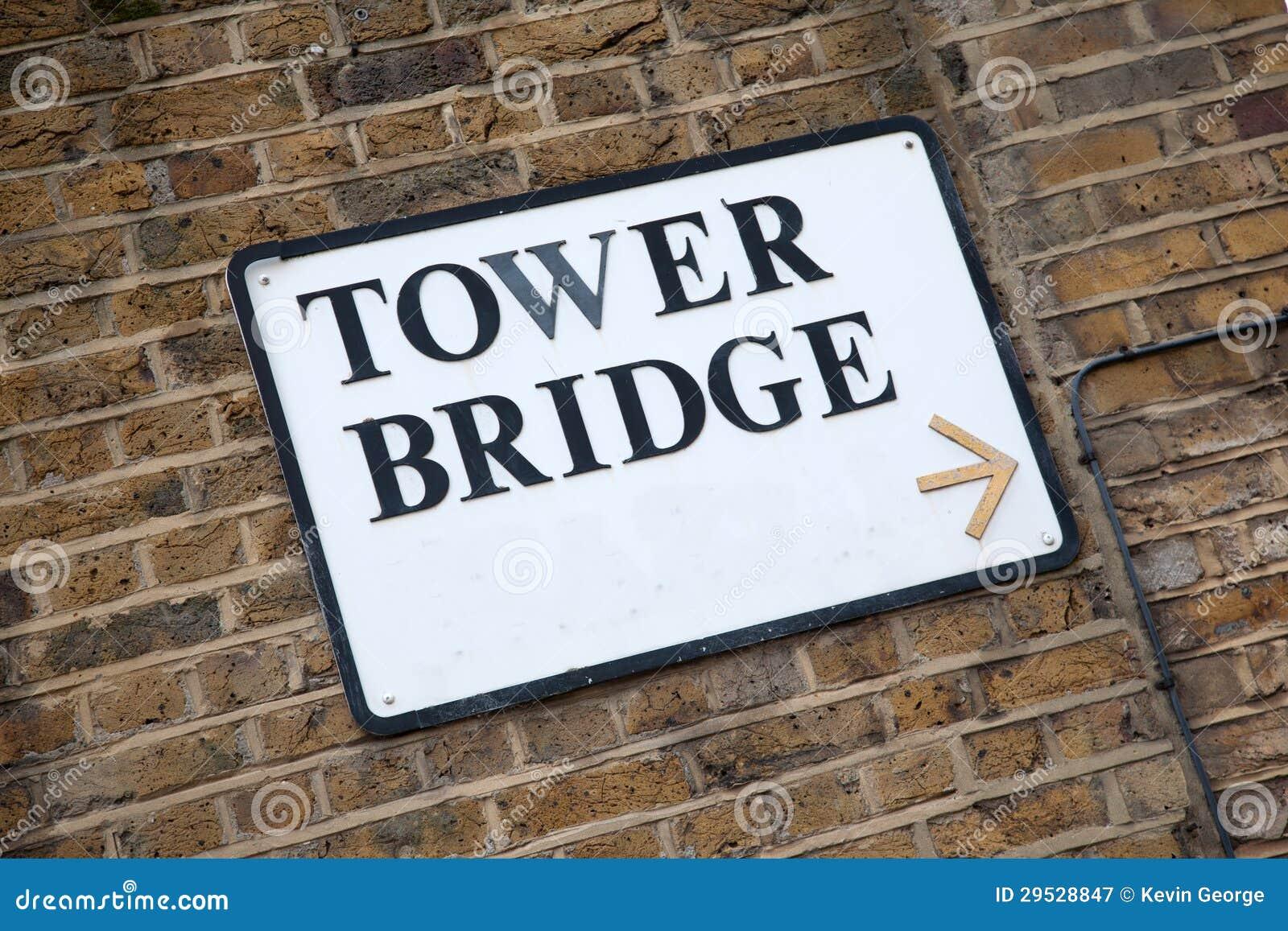 Sinal da ponte da torre