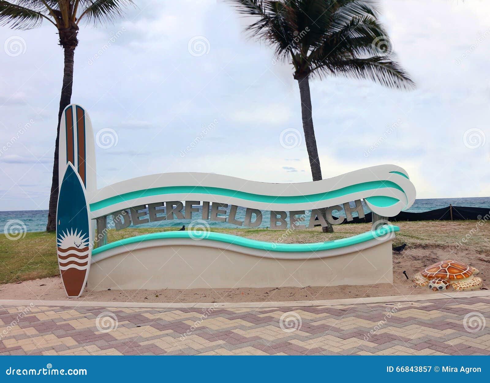 Sinal da praia de Deerfield