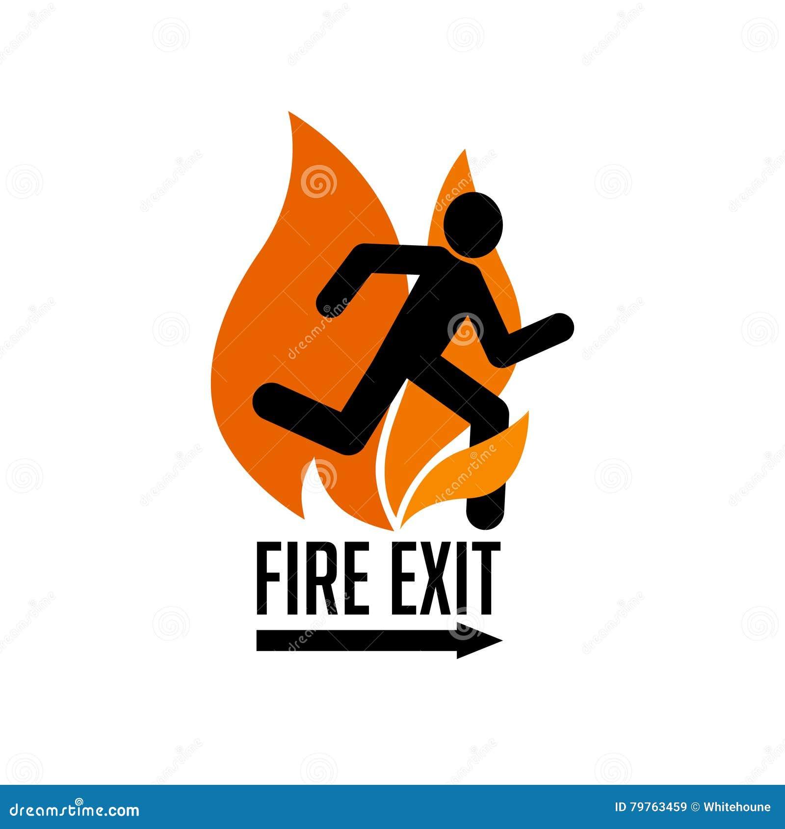 Sinal da saída de emergência