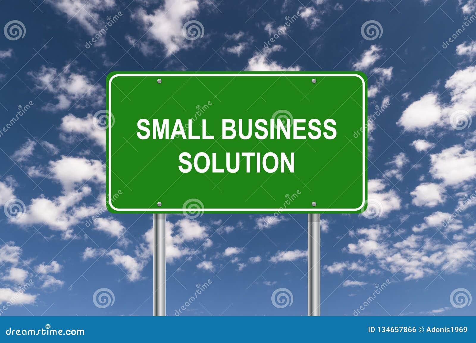 Sinal da solução da empresa de pequeno porte