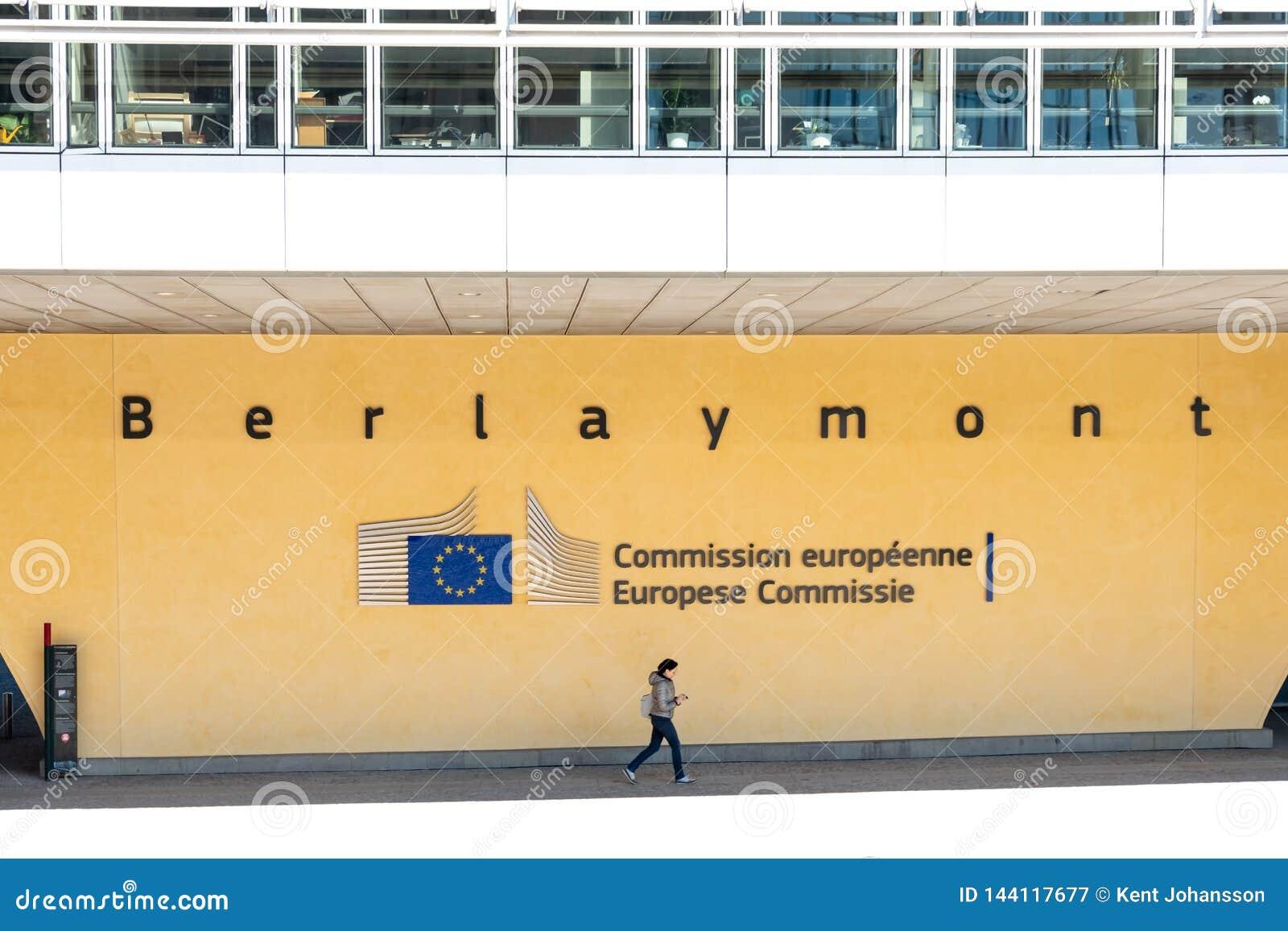 Sinal da UE na construção de Berlaymont